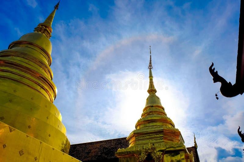 Temple thaïlandais de pagoda de Bouddha photo stock