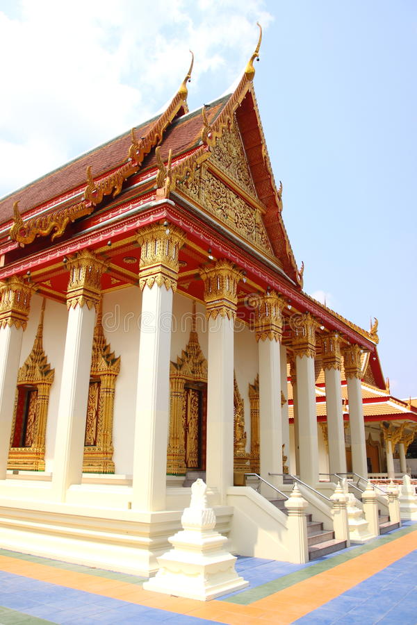 Temple of Thai arts stock image