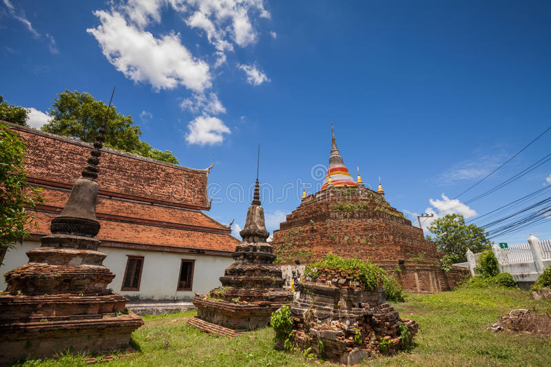 Temple in Thailand is named Wat Ratchaburana,Phitsanulok.  royalty free stock photography