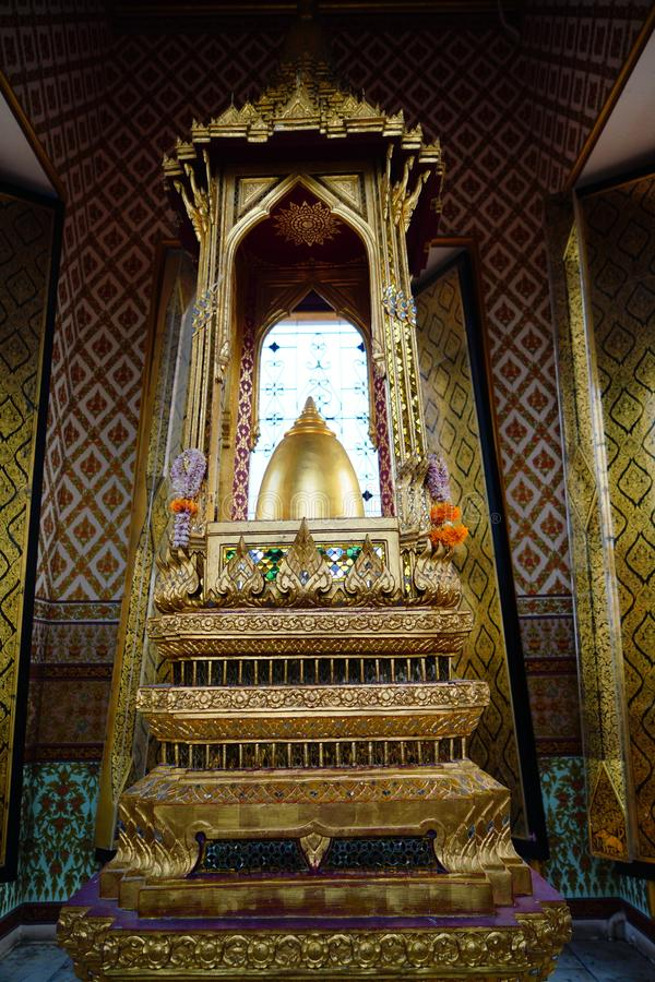 Temple in thailand that shrines the relics. Shrines the relics Relics  Abbreviated as Phra Buddha, the Buddha`s relics  Which he prayed before his death royalty free stock photos