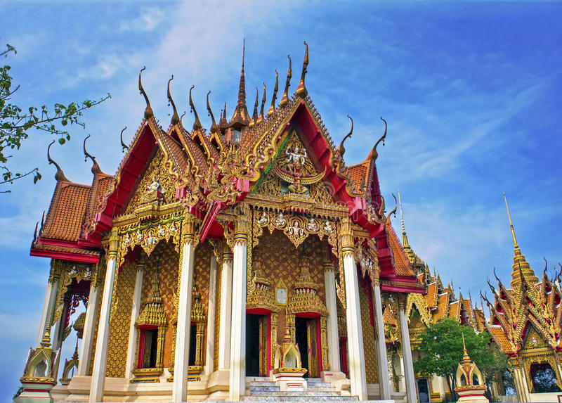 Temple in Thailand. Wat Tham Sua and Wat Tham Khao Noi, Kanchanaburi royalty free stock images