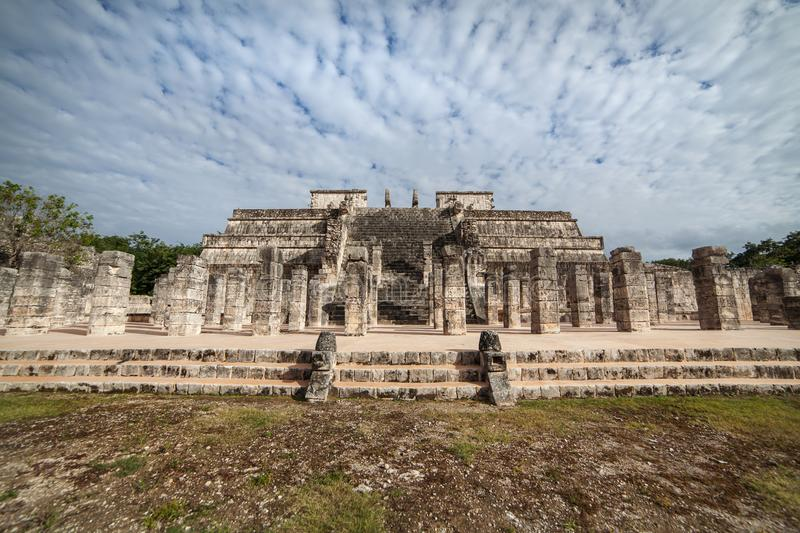 The Temple of a Thousand Warriors, Chichen Itza, Mexico. royalty free stock photos