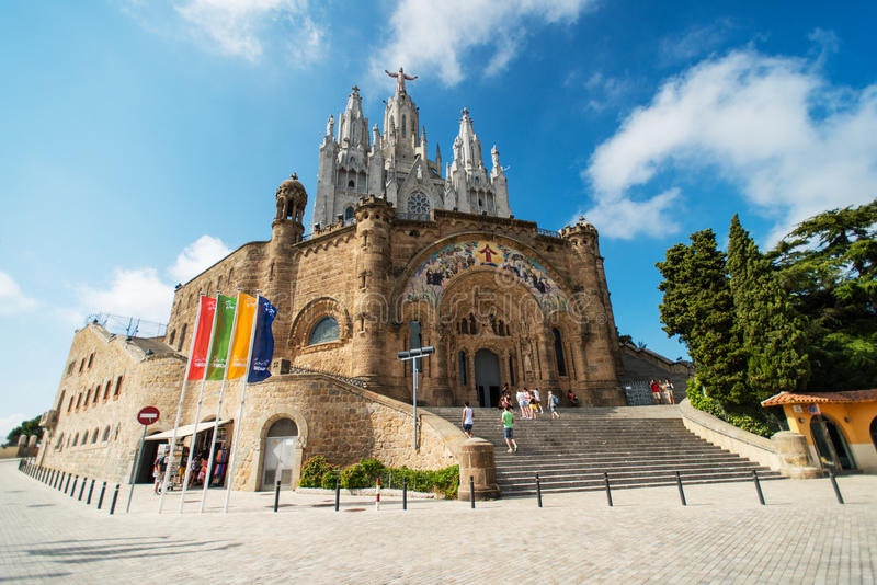 Download Temple at Tibidabo editorial stock image. Image of architecture - 27402809