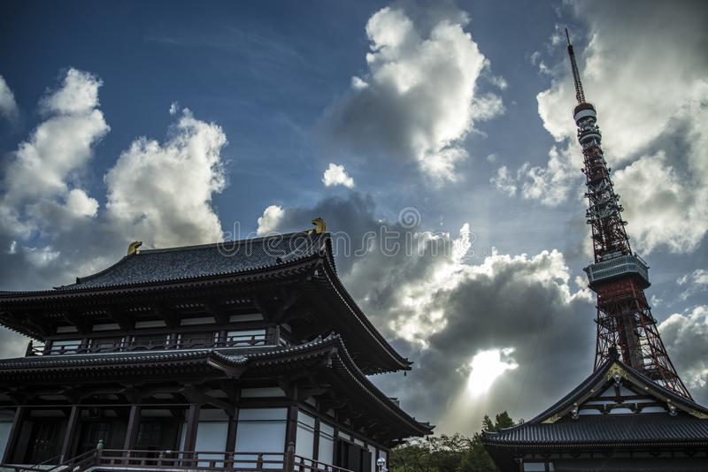 Temple Tokyo de Zoji-Ji images stock