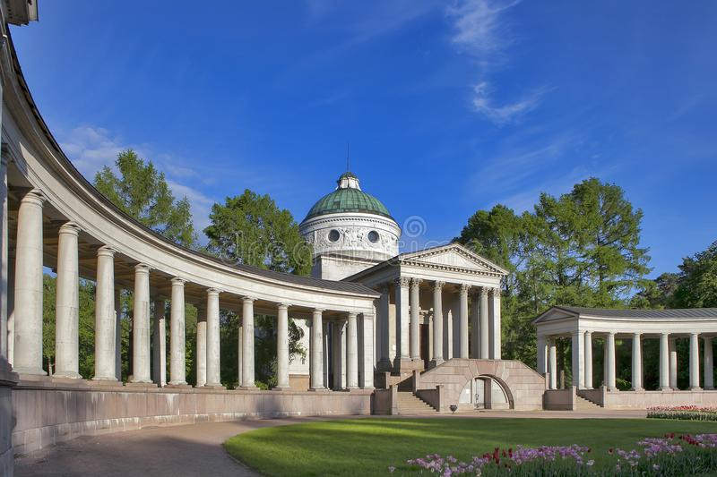 Temple-tomb Yusupov in Manor Arkhangelskoe - the palace and park ensemble of the late XVIII - early XIX century in Moscow stock photography