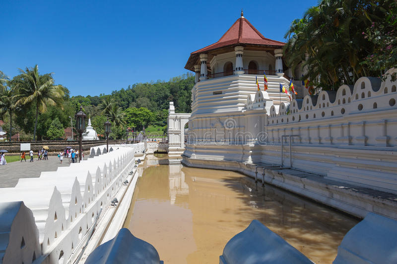 Temple of the Tooth, Kandy, Sri. Famous Buddha Temple of the Sacred Tooth Relic at Kandy, Sri Lanka - UNESCO World Heritage Site royalty free stock photography