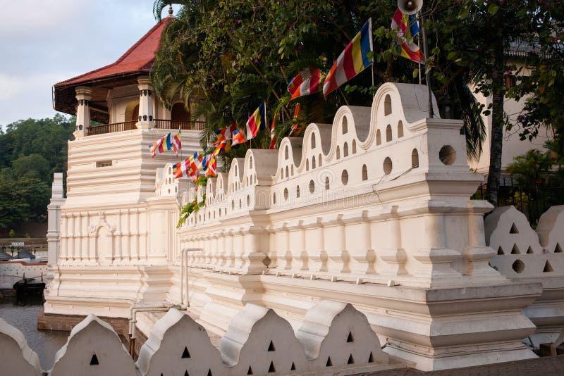 Temple of the tooth in Kandy, Sri-Lanka. Sri Dalada MaligawaTemple of the tooth in the town of Kandy, Sri Lanka royalty free stock images