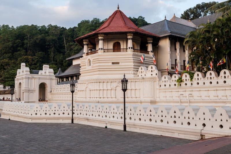 Temple of the tooth in Kandy, Sri-Lanka. Sri Dalada MaligawaTemple of the tooth in the town of Kandy, Sri Lanka stock photography