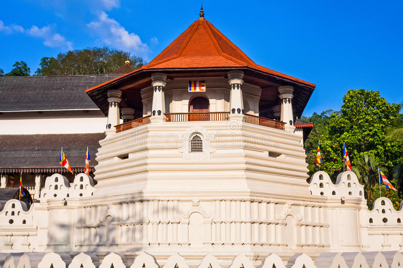 Temple of the Tooth, Kandy, Sri Lanka. Temple of the Sacred Tooth Relic (Sri Dalada Maligawa) is a Buddhist temple situated in world heritage site, Kandy, Sri royalty free stock images