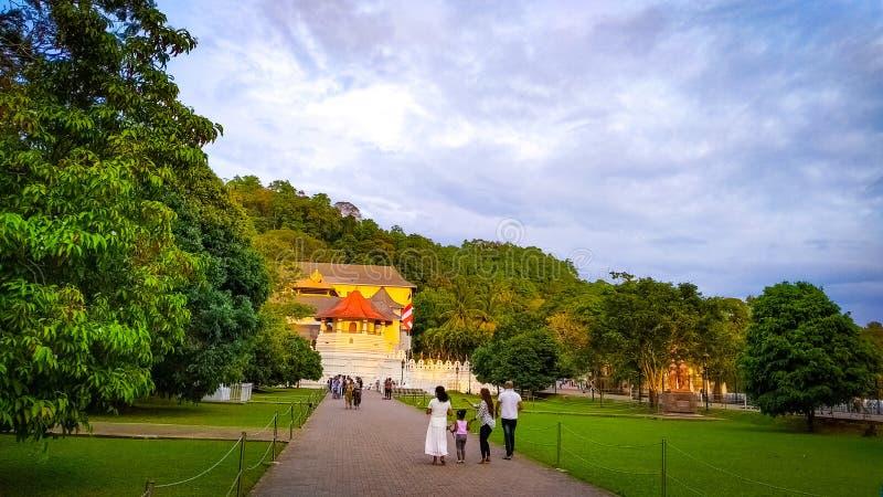 Temple of tooth kandy sri lanka royalty free stock photo
