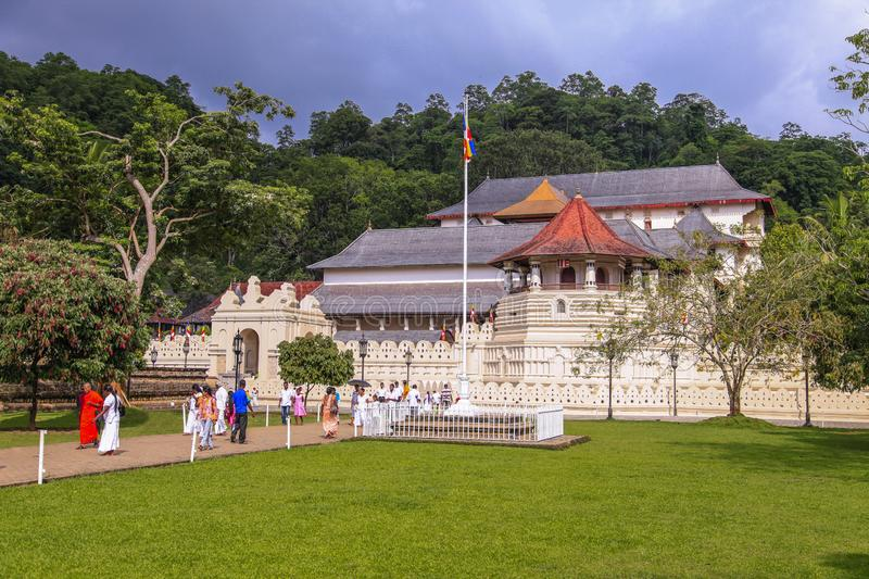 Temple of the tooth in Kandy stock images