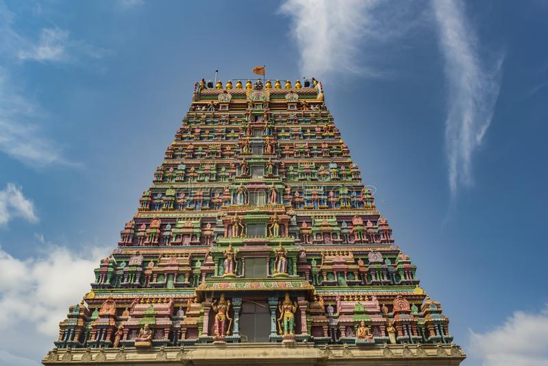Temple Tower of the Sringeri Temple stock image