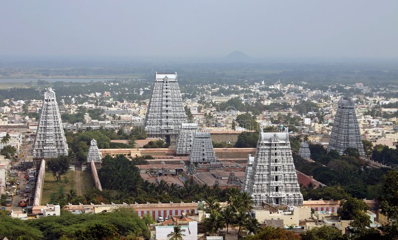 Temple Towers in India royalty free stock photography