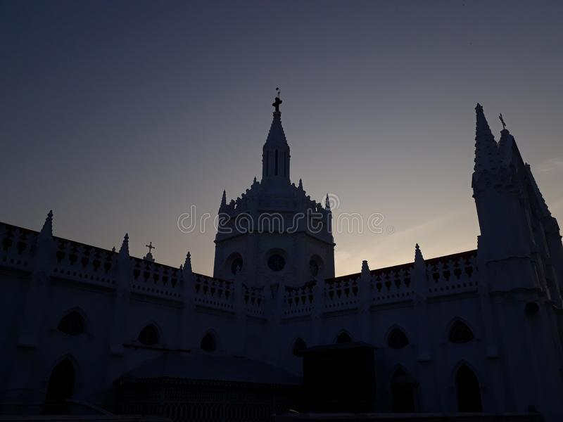 Temple tradition holy place Indian temple church south India culture royalty free stock images