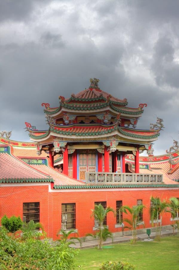 Temple traditionnel de HDR dans Taiwan photo libre de droits