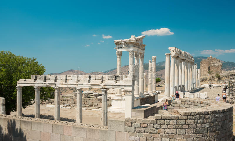 Temple of Trajan stock photography