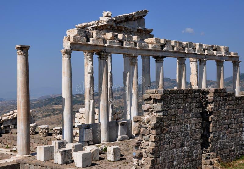 Temple Of Trajan, Pergamon / Pergamum, Bergama, Turkey stock image