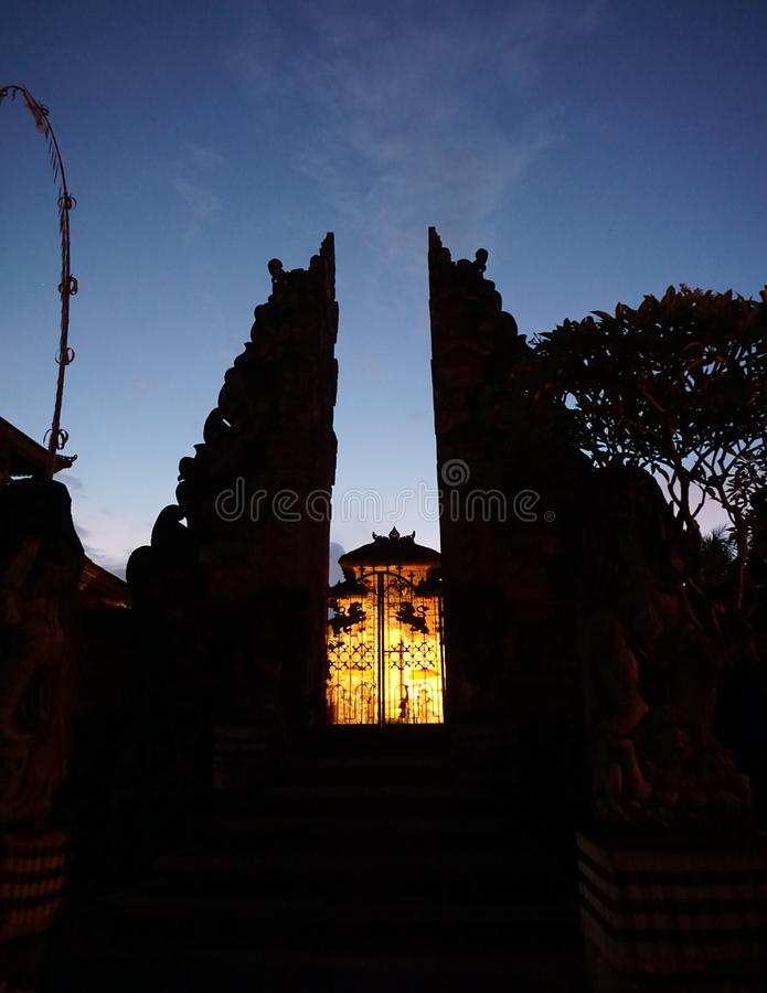 Temple in Ubud Bali Indonesia royaltyfri fotografi