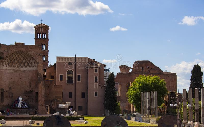 Temple of Venus in Rome 3 royalty free stock photography