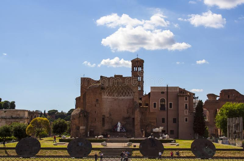 Temple of Venus in Rome stock photography