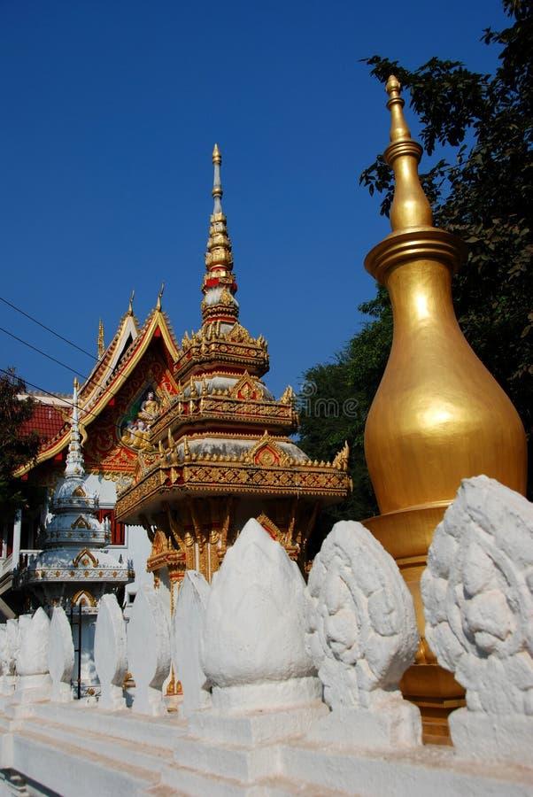 Temple in vientiane laos stock images