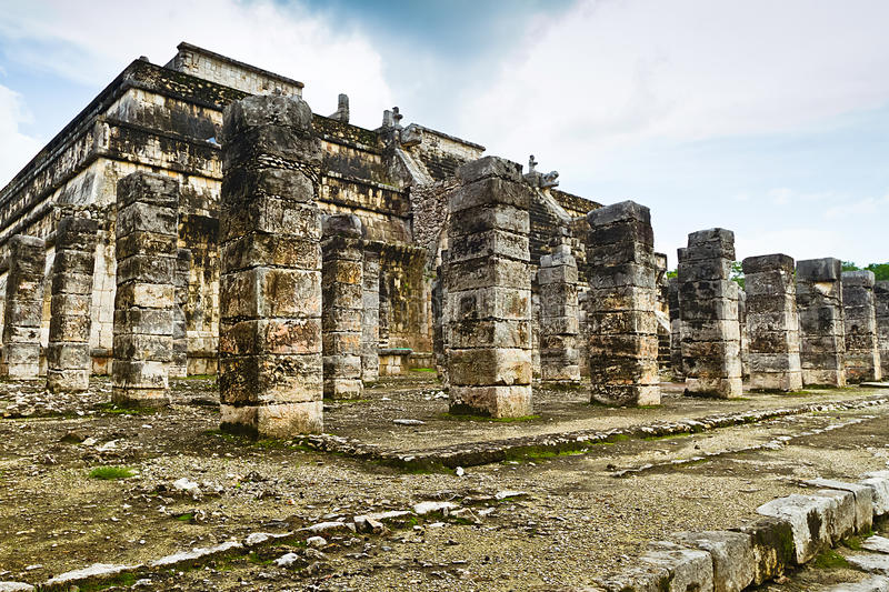 Download Temple of the Warriors stock photo. Image of remains - 24427556