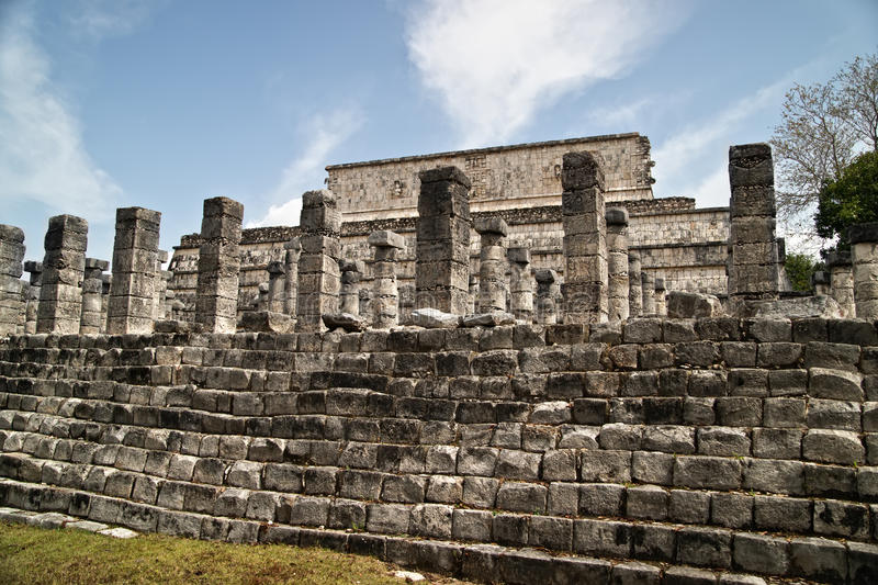 Download Temple of the Warriors stock photo. Image of column, mayan - 24631476