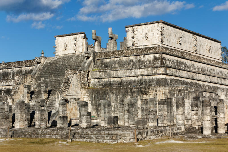 Temple of the Warriors at Chichen Itza stock images
