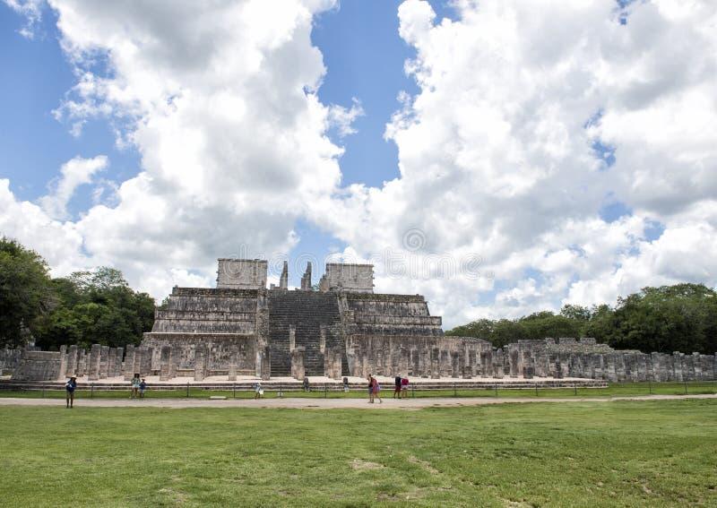 The Temple of the Warriors, Chichen Itza stock photo