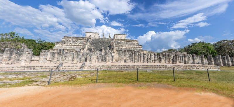 Temple of Warriors,Chichen Itza - Mexico stock photo