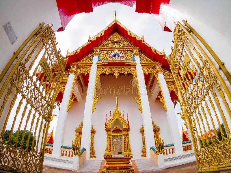 Temple Wat Chalong de Chaithararam à Phuket Thaïlande images stock