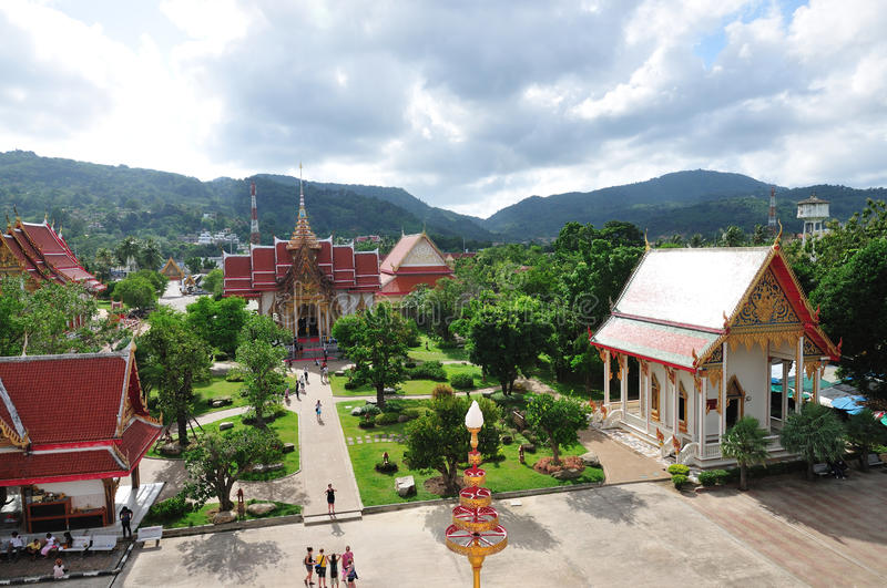 Temple of Wat Chalong, Phuket, Thailand royalty free stock images