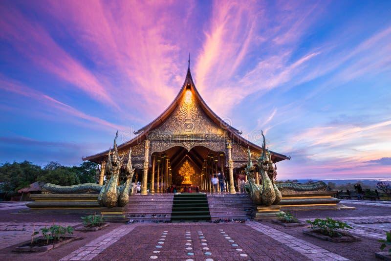 Temple Wat Phu Prao, Ubon Ratchathani, Thaïlande de Sirindhorn Wararam Phu Prao images libres de droits