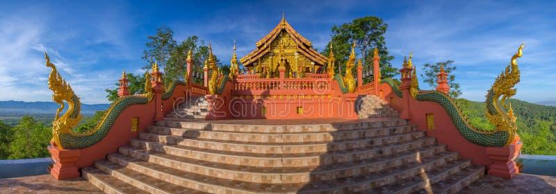 Temple,Wat Pra That Doi Pra Chan Mae Tha royalty free stock photo