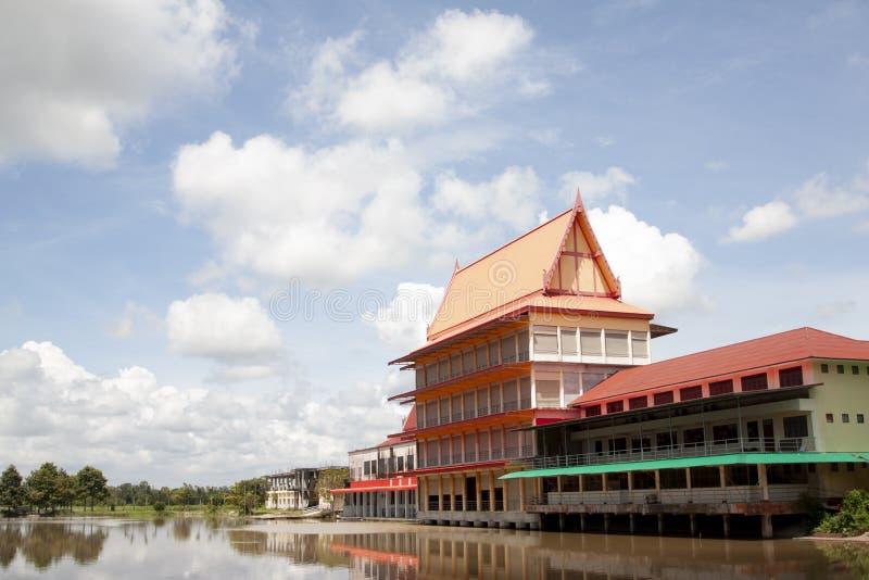 Temple at Wat Ta Khan Rayong. Building of Thai temple at Wat Ta Khan Rayong Thailand Non-aquatic areas stock image