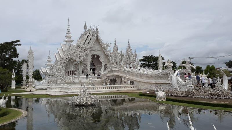 Temple white Wat Long Khun royalty free stock photos