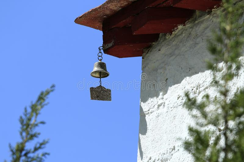 Temple of wind chimes stock images
