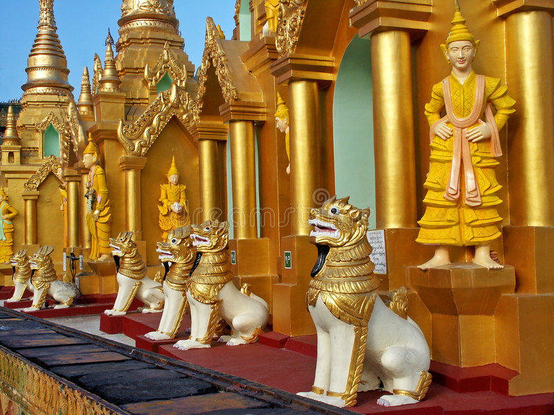 Temple Yangon de Shwedagon photo stock