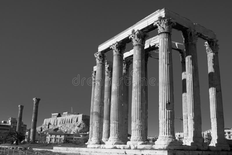 Download Temple of Zeus stock photo. Image of black, dark, architecture - 14861984