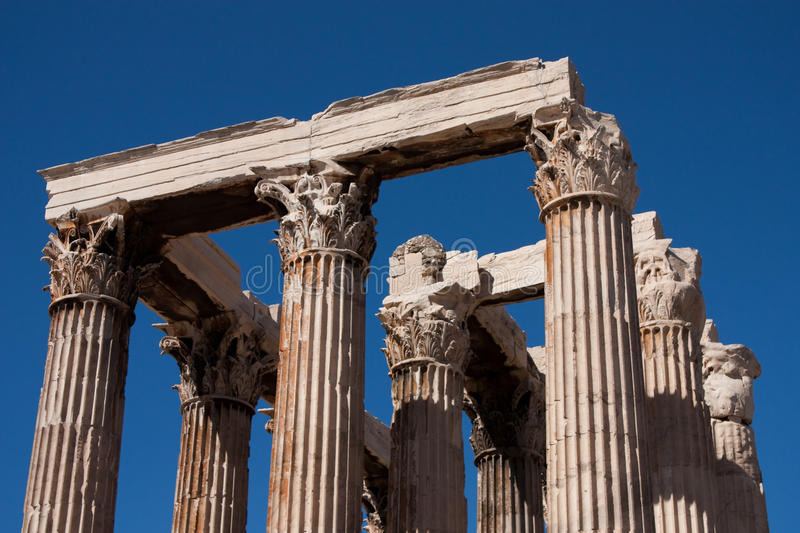 Download THE TEMPLE OF ZEUS ATHENS stock photo. Image of close - 22301428