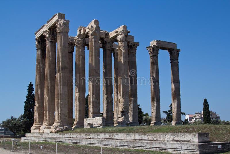 Temple of Zeus in Athens, Greece stock photo