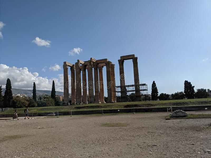 Temple of zeus Athens greece stock images