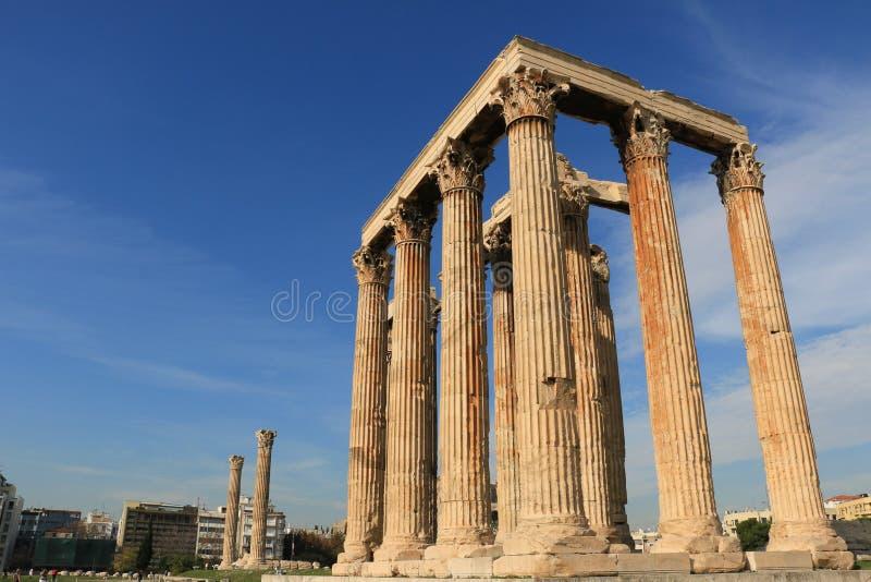 Temple of Zeus in Athens stock photos