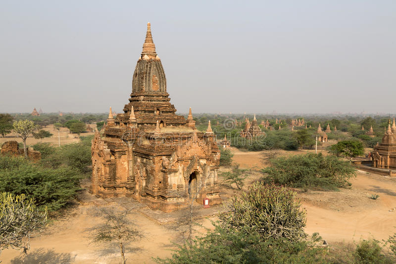 Templen av Bagan, Mandalay, Myanmar, Burma royaltyfri bild