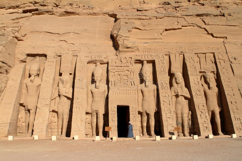 The temples of Abu Simbel in Egypt royalty free stock photos