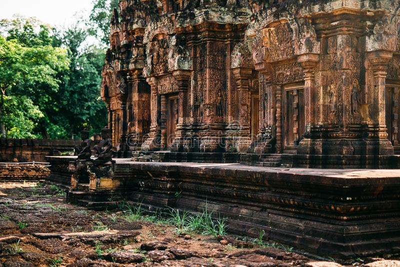 Temples Angkor Wat in Cambodia, ta Prohm, Siem Reap stock photos