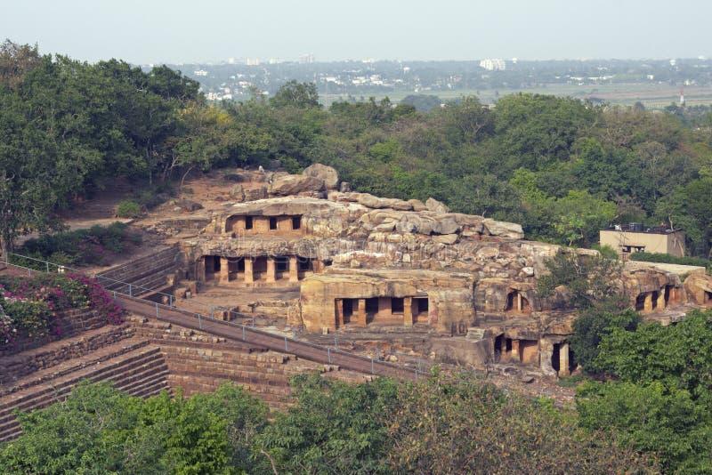 Temples antiques de caverne image stock