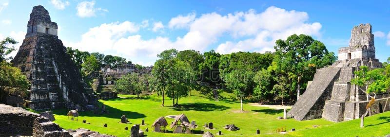 Temples antiques de Maya de Tikal, Guatemala image libre de droits