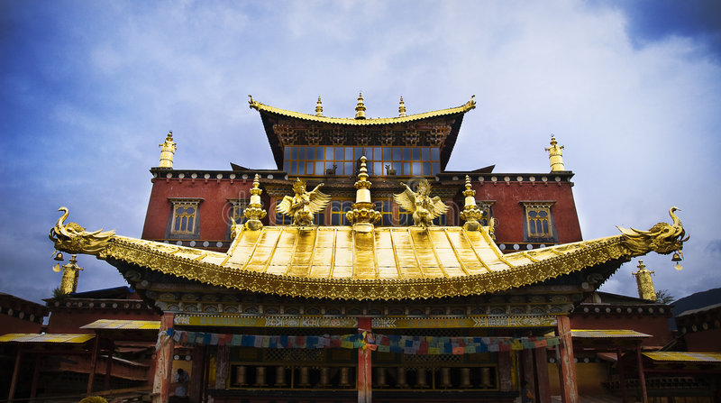 Temples au Thibet photos stock