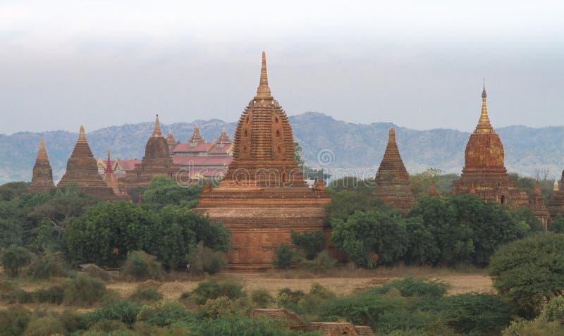 Temples in Bagan (Myanmar) stock images